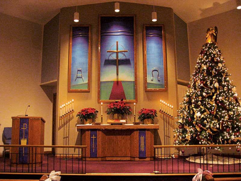 Berea Lutheran Church, Chancel Triptych